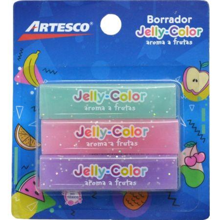 Borrador Jelly Color Blister x 3 Unidades