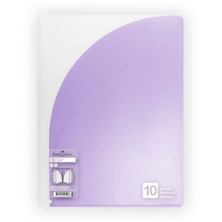 Folder con 10 Bolsillos A4 Violeta