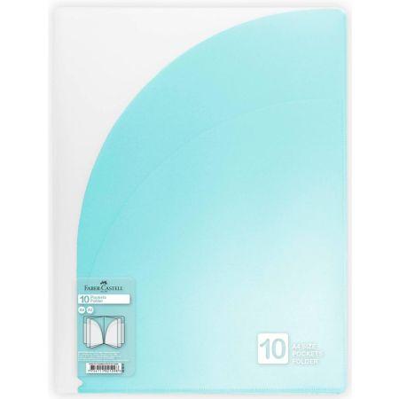 Folder con 10 Bolsillos A4 Azul