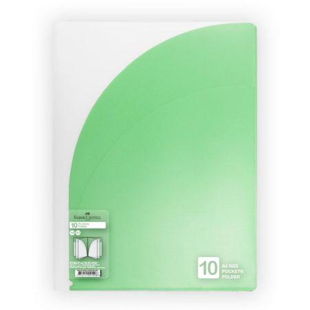 Folder con 10 Bolsillos A4 Verde Claro
