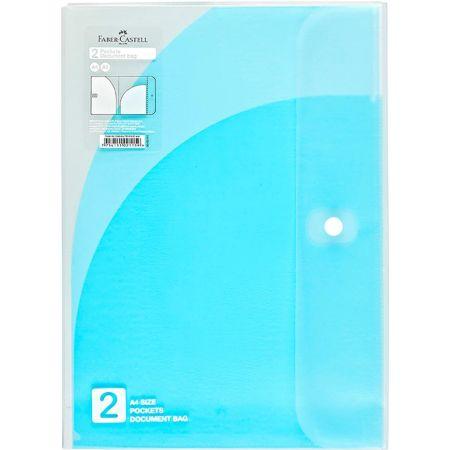 Folder A4 con 2 Bolsillos Azul