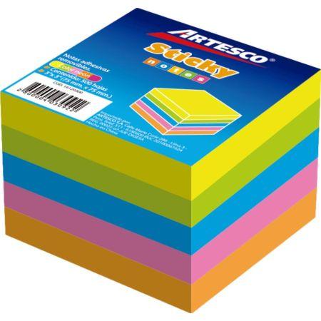 Notas Autoadhesivas 3x3 Cubo x 5 Colores Neón x 500 Hojas