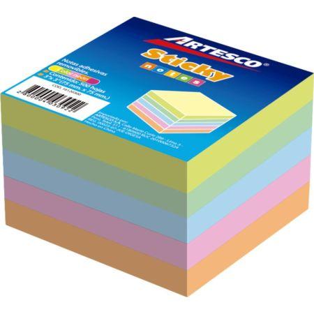 Notas Autoadhesivas 3x3 Cubo x 5 Colores Pastel x 500 Hojas