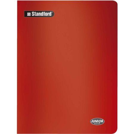 Cuaderno Junior Book Cuadriculado Rojo A4 Grapado x 80 Hojas