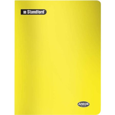 Cuaderno Junior Book Cuadriculado Amarillo A4 Grapado x 80 Hojas