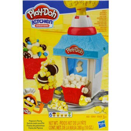Masa Moldeable Kitchen Popcorn Party Caja x 6 Unidades, 280g + Accesorios