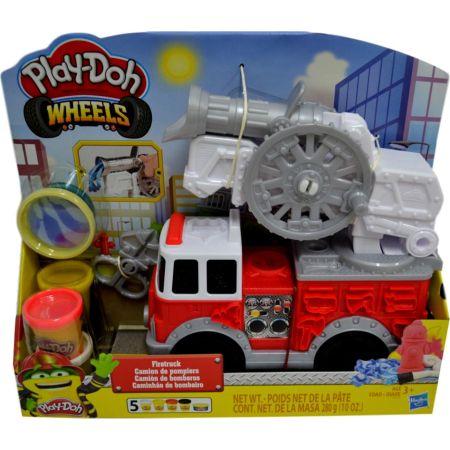 Masa Wheels Moldeable Camión de Bomberos Caja x 5 Unidades, 280g + Accesorios