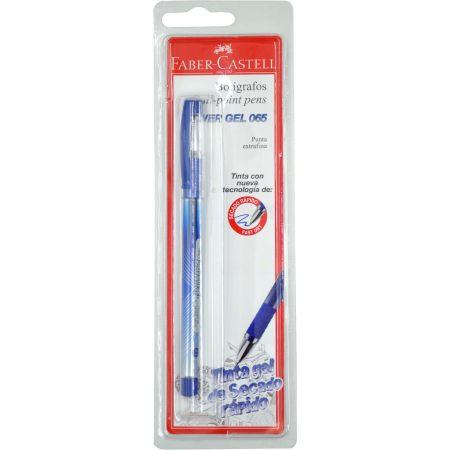 Lapicero Power Gel 065 Azul Blister x 1 Unidad