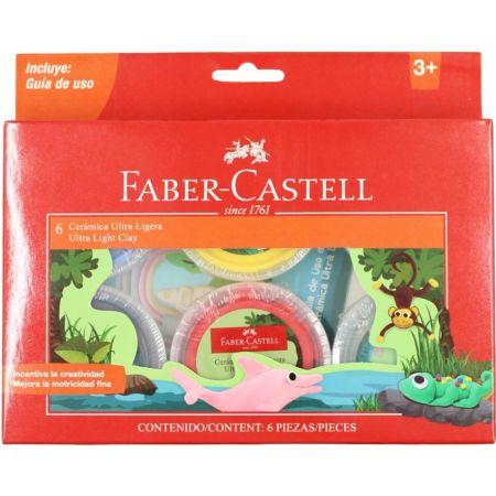 Cerámica Ultra Ligera Colores Básicos 14 gr x 6 Unidades Faber Castell
