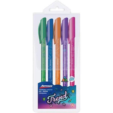 Bolígrafo Trimax GL-32 Trend Estuche x 5 Colores