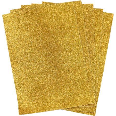 Papel Escarchado A4 Amarillo Blister x 5 Hojas