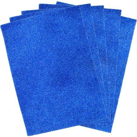 Papel Escarchado A4 Azul Blister x 5 Hojas