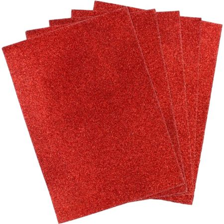 Papel Escarchado A4 Rojo Blister x 5 Hojas