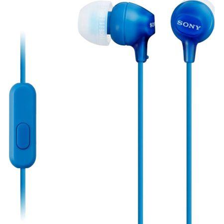 Audífono In-Ear MDR-EX15AP Azul con Micrófono