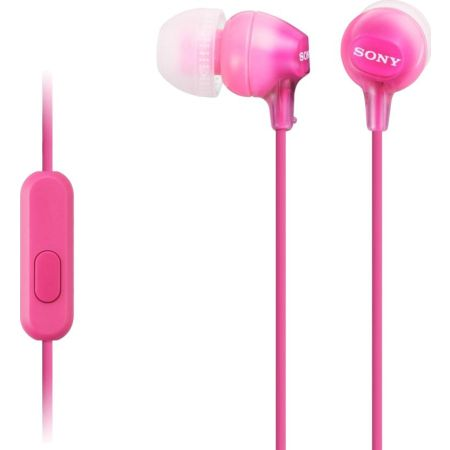 Audífono In-Ear MDR-EX15AP Rosado con Micrófono