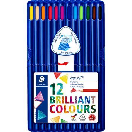 Colores Triangulares Ergosoft Caja de Plástico x 12 Unidades
