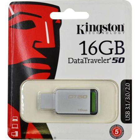 Memoria USB 3.0 16GB DataTraveler 50 Plata