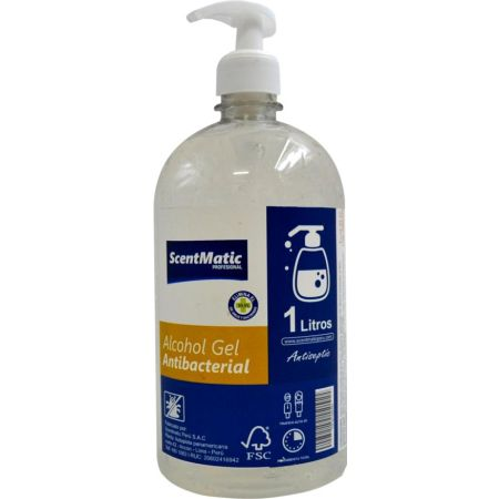 Alcohol Gel Antibacterial 80% x 1 L