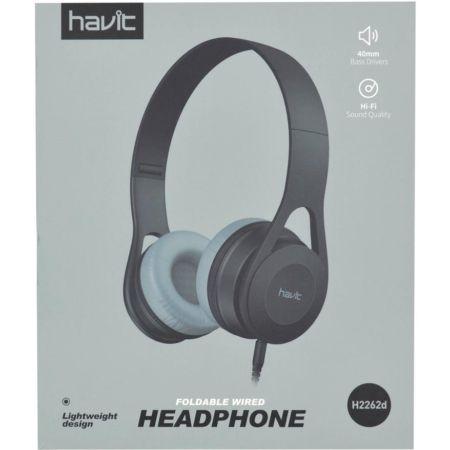 Audífono Stereo con Cable HV-H2262D Gris