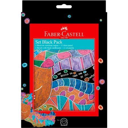 Set Black Pack Ilustración y Óleo Pastel x12