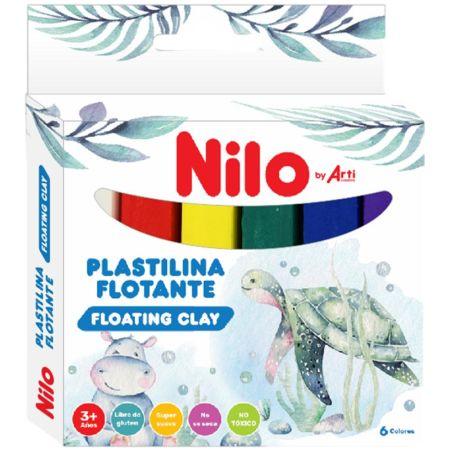 Plastilina en Barra Flotante Caja x 6 Unidades Blanco, Rojo, Amarillo, Verde, Azul, Morado