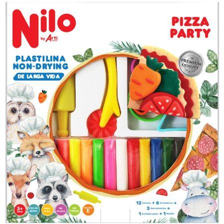 Set de Plastilina Non-Dry Pizza Party x 160 g