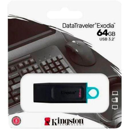 Memoria USB 3.2 DTX Exodia 64GB Negro