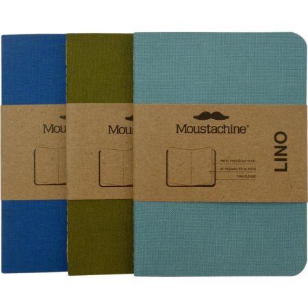 Libreta Pasaporte Tripack Slim Lino Verde y Azules
